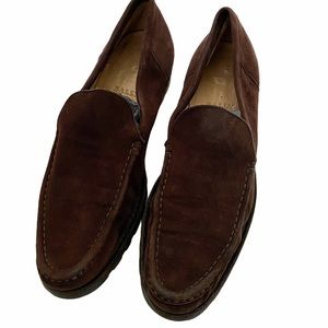 Bally brown suede loafers Made in Itay